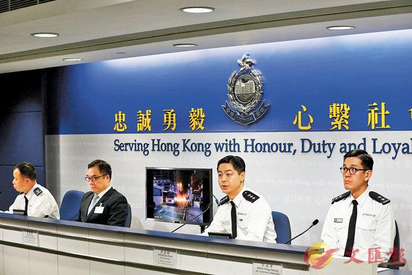 ■警方指,埋伏行動有效遏止大規模破壞,便衣出勤就是要保密達到奇兵制暴目的。 香港文匯報記者  攝