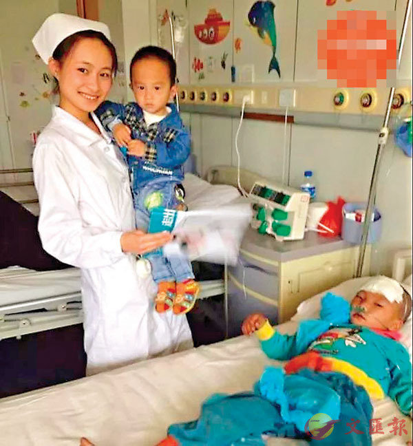 ■在愛心病房裡,經常能見到楊昆娥和同事為孩子診療的身影。網上圖片
