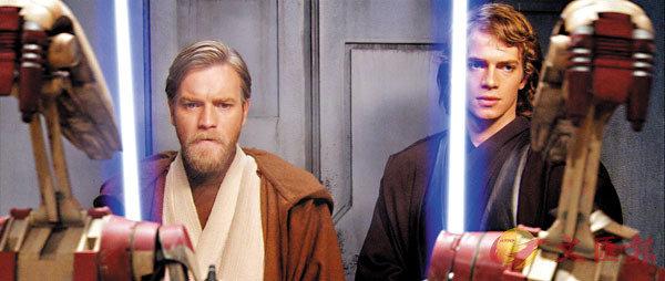 ■Ewan McGregor飾演《Star Wars》裡的Obi-wan Kenobi(左)。 資料圖片