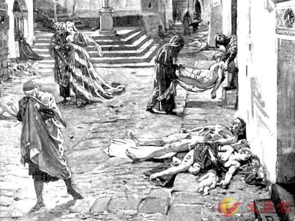 ■歷史圖畫中黑死病慘況。 資料圖片