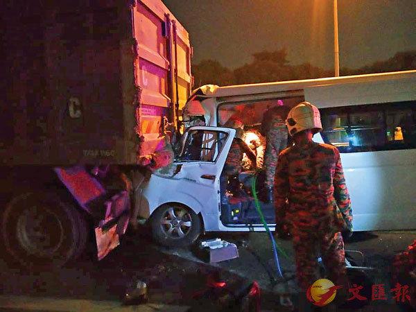 ■肇事車輛損毀嚴重。 路透社
