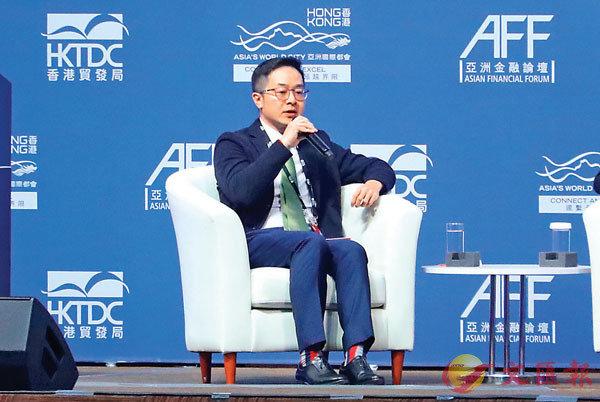 ■騰訊集團副總裁、富融銀行董事長賴智明稱,香港在金融科技上表現良好。香港文匯報 記者  攝