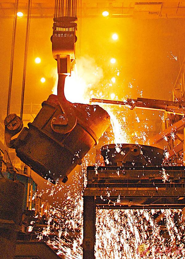 ■煉鋼業在中美貿易戰中因關稅受惠。資料圖片