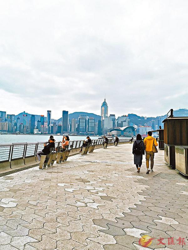 ■星光大道人流稀少。 香港文匯報記者  攝