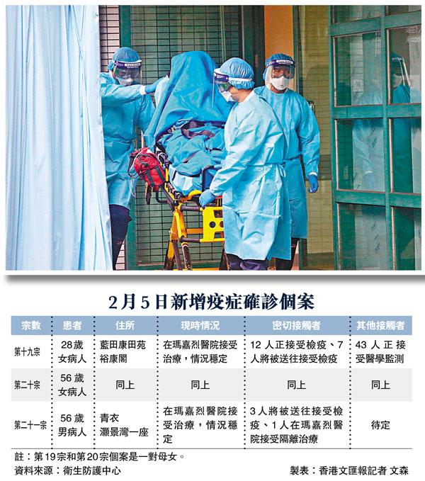 藍田康田苑的確診男患者(左圖),感染了妻子和女兒。 資料圖片