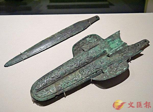 ■四川博物院館藏的戰國雙鞘劍一組。
