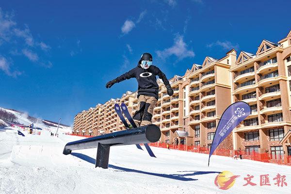 ■ 位於河北張家口的雲頂滑雪場被確定為冬奧會自由式滑雪和單板滑雪比賽場地。 資料圖片