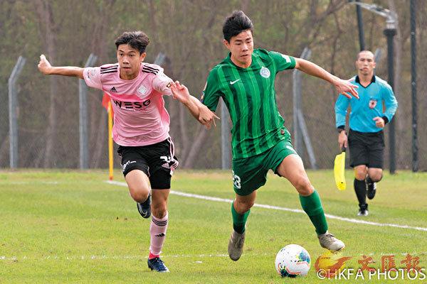■大埔孫銘謙(右)表現拚命,助球隊搶回1分。足總圖片