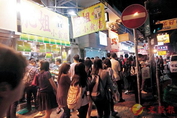 ■有旺角小食店生意較昔日大跌七成。資料圖片