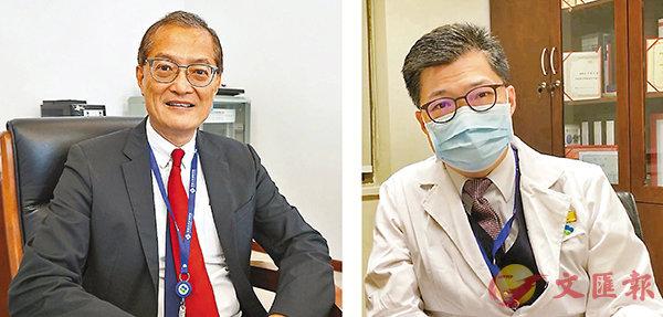 ■盧寵茂(左)與許建名接受香港文匯報採訪。香港文匯報記者  攝