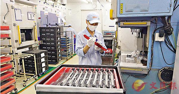 ■廣州斯坦雷電氣有限公司生產線已復工。 敖敏輝  攝