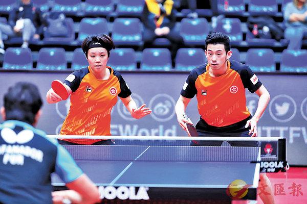 ■黃鎮廷(右)/杜凱�l有望在匈牙利公開賽奪冠。 ITTF圖片
