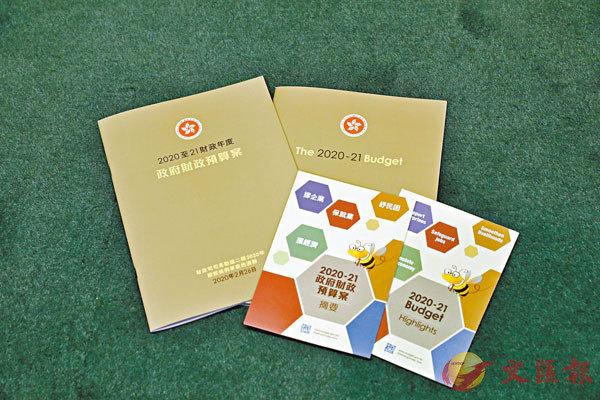 ■新年度預算案封面特意採用自然系的土地色。 香港文匯報記者  攝