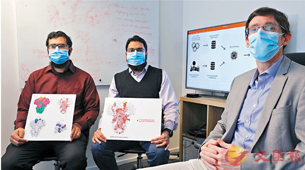 ■Matthew McKay(右)及其研究團隊,識別出一組潛在生物標記。科大圖片
