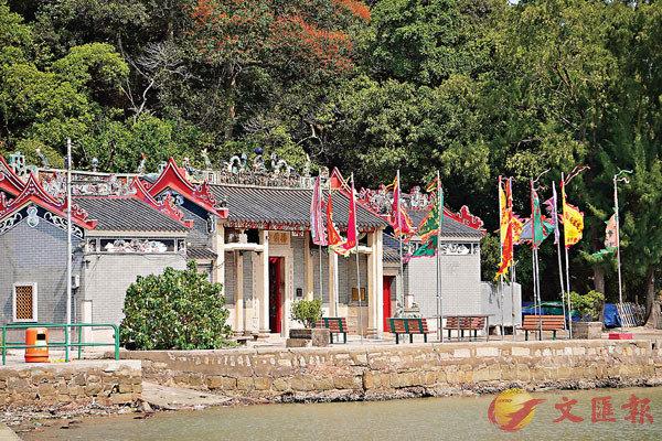 ■坐落在寶珠潭的楊侯古廟。