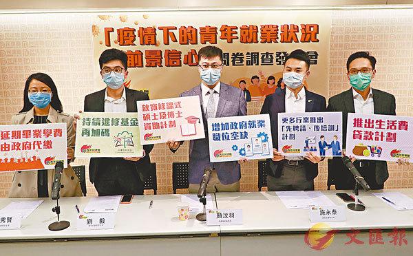 ■ 青年民建聯調查發現逾六成受訪青年對未來一年可升職感到悲觀。 香港文匯報記者  攝