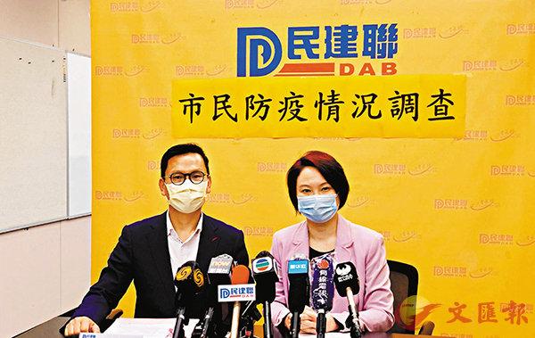 ■李慧�k(右)及陳�絔g指民調顯示大量市民擔憂會因疫情失業。  香港文匯報記者黃書蘭 攝