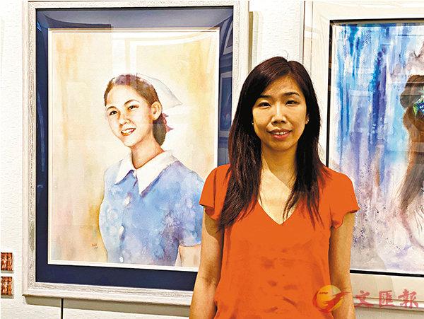 ■陳芷軒與護士肖像。 胡茜 攝