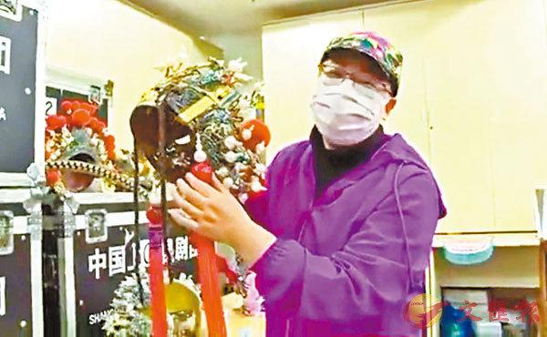 ■昆劇名家谷好好現場直播講解昆劇中的服飾。 上海昆劇團提供