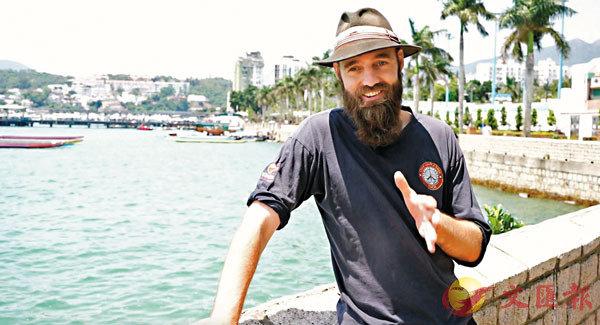 ■Pedersen西貢碼頭接受記者訪問。攝影陳儀雯