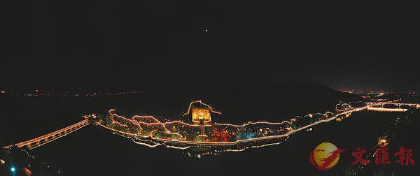 ■洛陽龍門石窟景區夜景