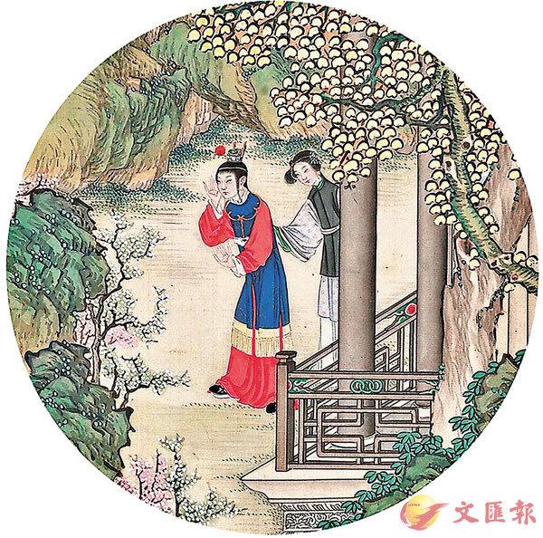 ■畫家孫溫(清)筆下的《紅樓夢》一景。網上圖片