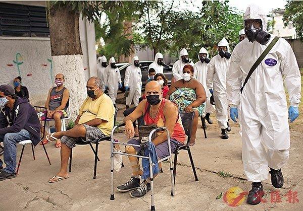 巴西近期確診數字連日遞增,累計宗數突破20萬,成為全球確診第6多的國家。 美聯社