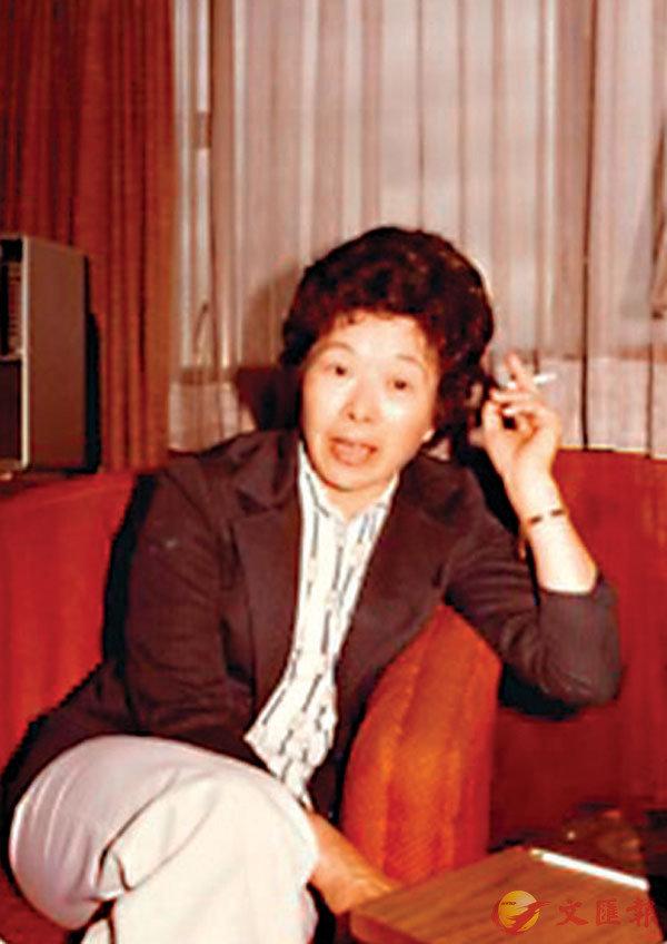 ■「留學生鼻祖」於梨華女士。一九八三年四月攝於香港九龍華國酒店。彥火  攝