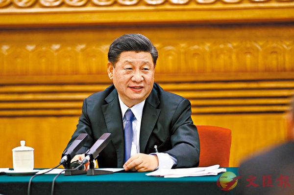 ■ 習近平昨日參加十三屆全國人大三次會議內蒙古代表團的審議。 新華社