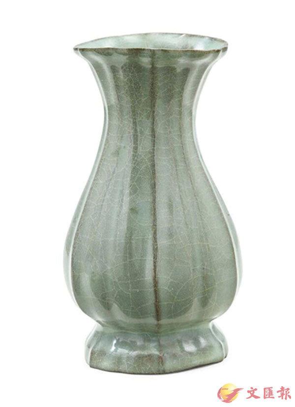 ■香港蘇富比南宋 官窯花口瓶拍出近120萬元高價