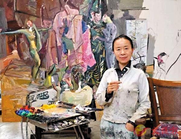 ■閆平雖是嬌小女子,畫作卻展現了大開大合的氣象。