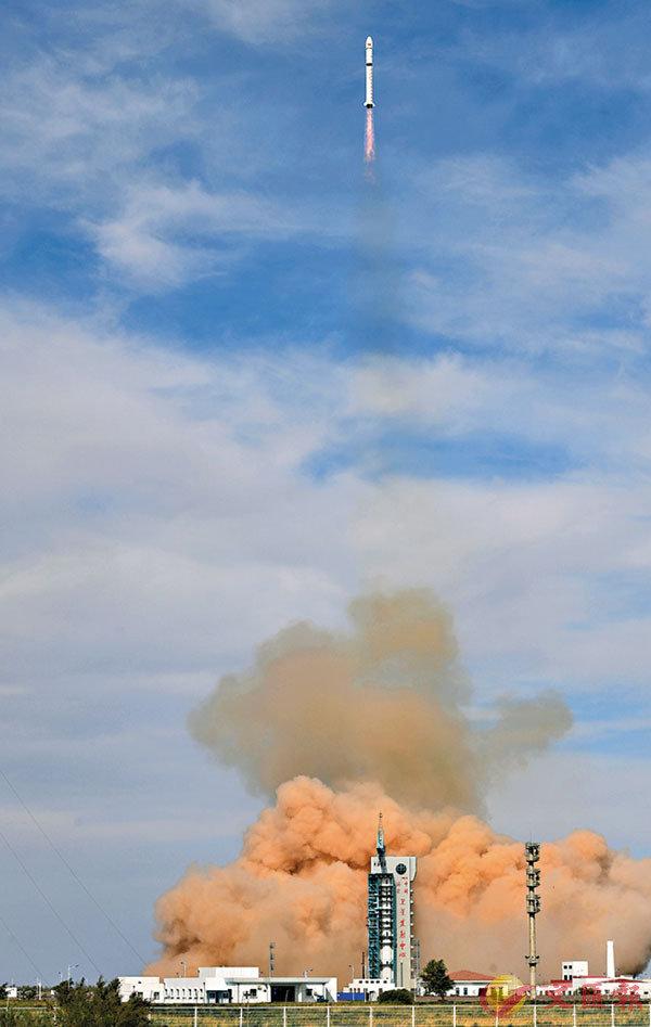 ■ 昨日16時53分,中國在酒泉衛星發射中心用長征二號丁運載火箭,成功將高分九號02星、和德四號衛星送入預定軌道,發射獲得圓滿成功。 新華社