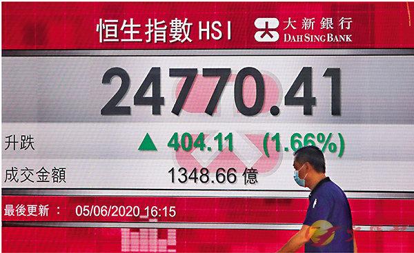 ■港股本周連升5日,全周升幅近8%。 中通社
