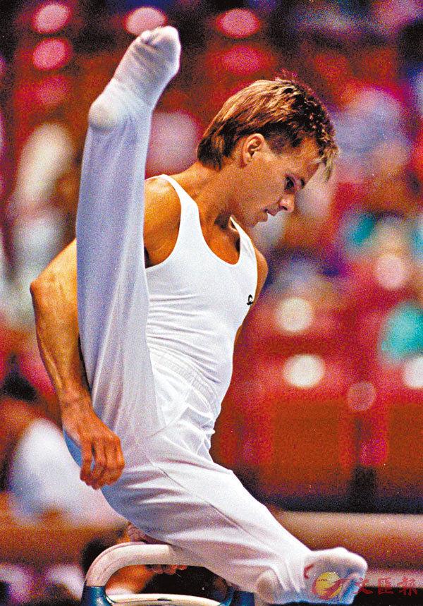 ■湯馬斯是奪得世錦賽金牌的首位美國男子體操選手。 美聯社
