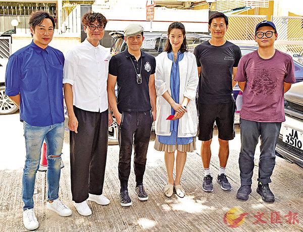 ■ 郭富城(左三)疫境下拍攝新戲,欲望影業回復正軌。