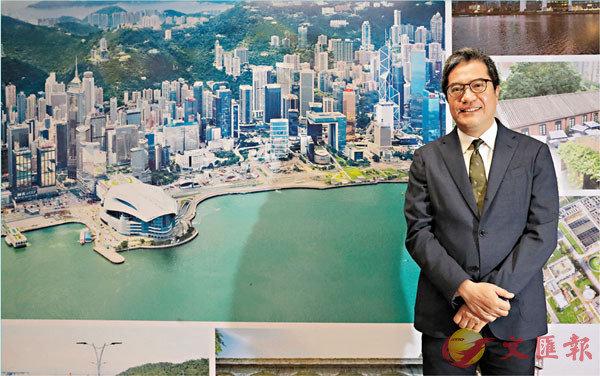 ■黃偉綸日前接受香港文匯報專訪時表示,政府在覓地建屋方面不遺餘力,各種覓地政策都有進展。香港文匯報記者  攝