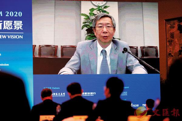■易綱指出,上海的風險管理的各個要素正在日漸完善。 中新社
