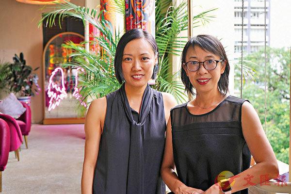 ■展覽策展人郭瑛(左)和黃志恆