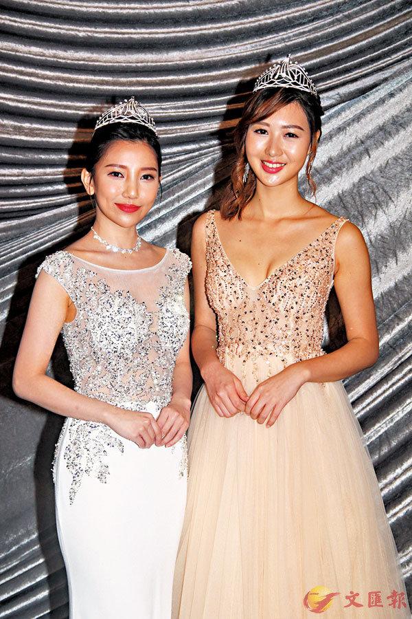 ■梁雪瑤(右)與羅思雅都認為報名參選,只要有勇氣參加就可以。