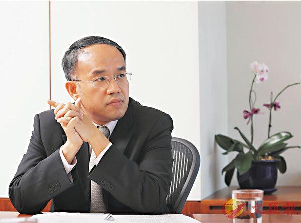 ■許正宇指很多市場人士都對港區國安法表示支持,都希望本港盡快恢復穩定與秩序。香港文匯報記者  攝