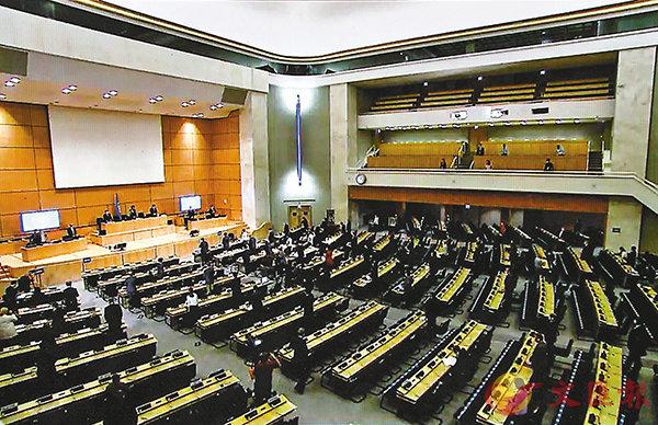 6月30日、7月1日和2日,70多個國家在聯合國人權理事會上表態支持中國訂立香港國安法。圖為6月18日舉辦的聯合國人權理事會會議。 資料圖片