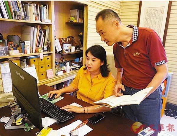 ■ 陳泉宏和太太洪屹是生活中的好伴侶、事業中的好搭檔。 香港文匯報記者敖敏輝  攝