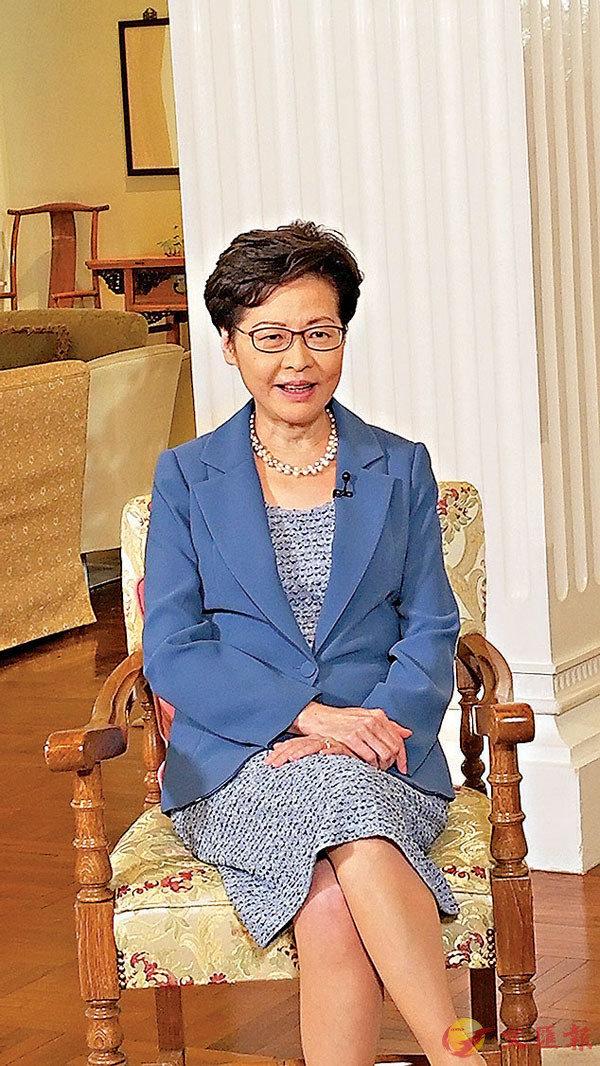 ■林鄭月娥表示,如政治問題不解決,政府施政會舉步維艱。 香港開電視供圖