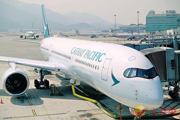 ■國泰航空料連月出現營運虧損。 中通社