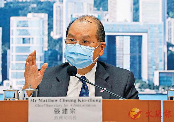 ■ 張建宗表示,中央會協助香港於亞博館改建方艙醫院。 香港文匯報記者 攝