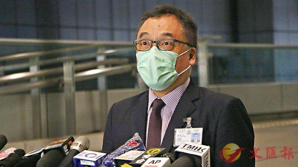 ■李桂華首次以香港警方國安處高級警司身份召開記者會。 香港文匯報記者  攝