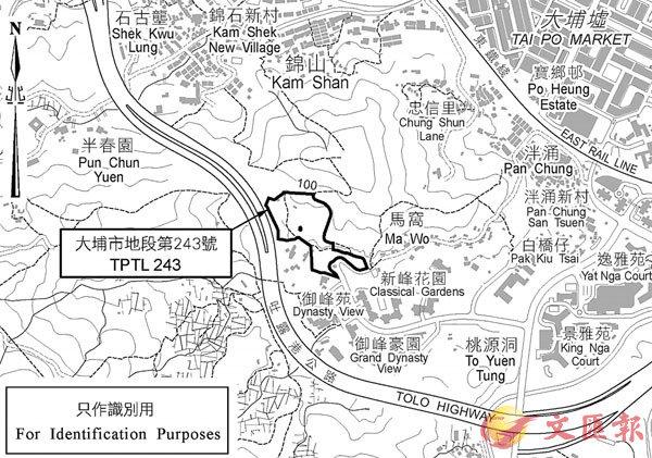 ■ 大埔馬窩路地皮位置圖。