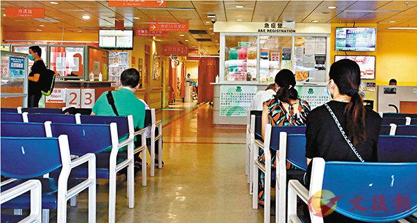 何婉霞表示,醫管局將進一步加強對入院病人進行病毒篩查。圖為瑪嘉烈醫院急症室。香港文匯報記者  攝