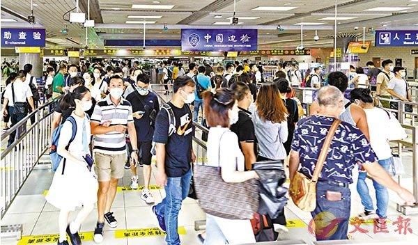 ■粵澳口岸通關政策逐步放寬,出入境客流增多。 受訪者供圖