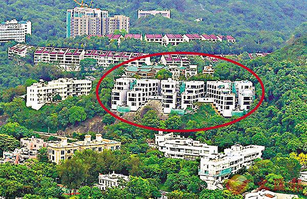 ■位於壽山村道的美國領事館宿舍(紅圈),地盤面積約94,796方呎。 資料圖片